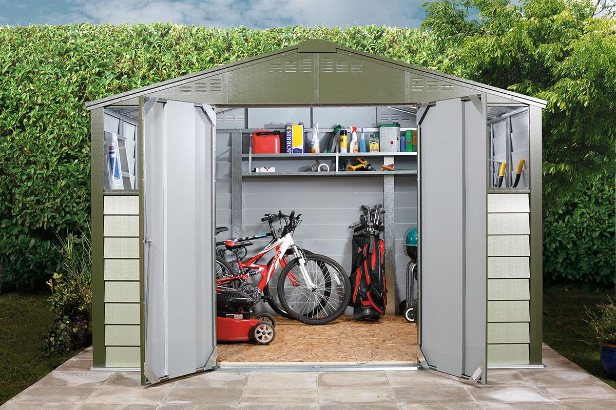 titan 108 garden shed metal sheds from trimetals. Black Bedroom Furniture Sets. Home Design Ideas