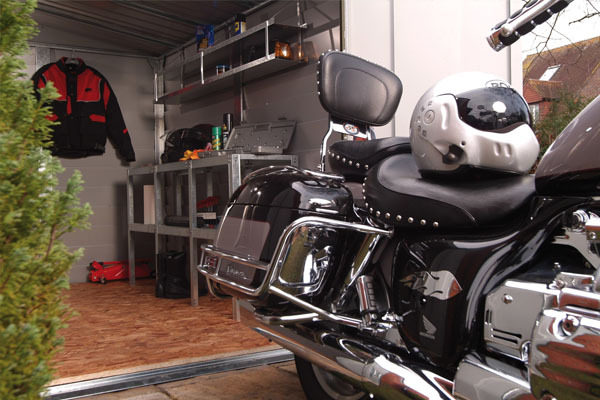 Motorbike sheds and secure motorcycle garages for home storage for Garage mc moissy
