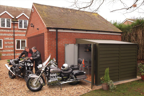 Motorbike Sheds And Secure Motorcycle Garages For Home Storage