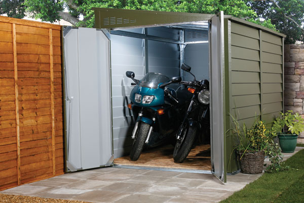 Motorcycle Carport Storage : Motorbike sheds and secure motorcycle garages for home storage
