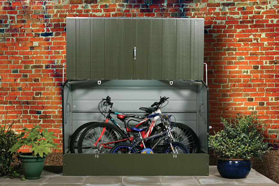 secure bike storage sheds trimetals uk. Black Bedroom Furniture Sets. Home Design Ideas