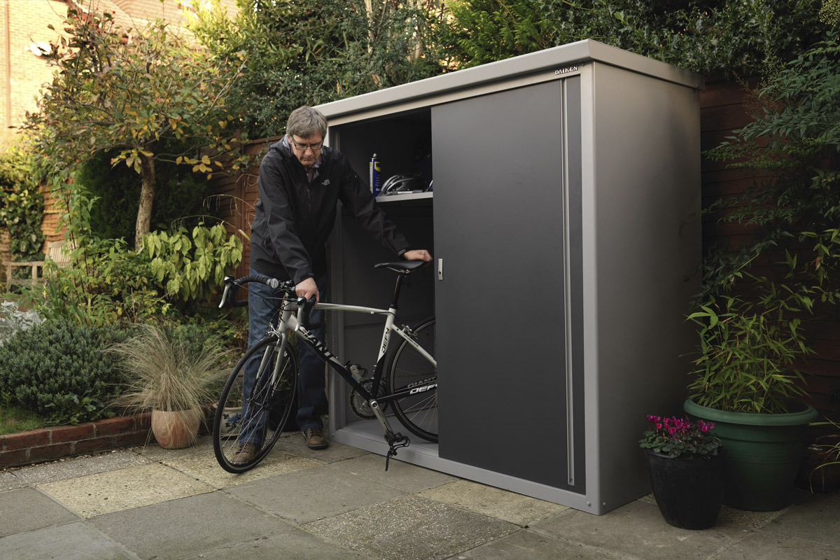 Metal Garden Shed Storage Cabinet Multiple Shelf Options