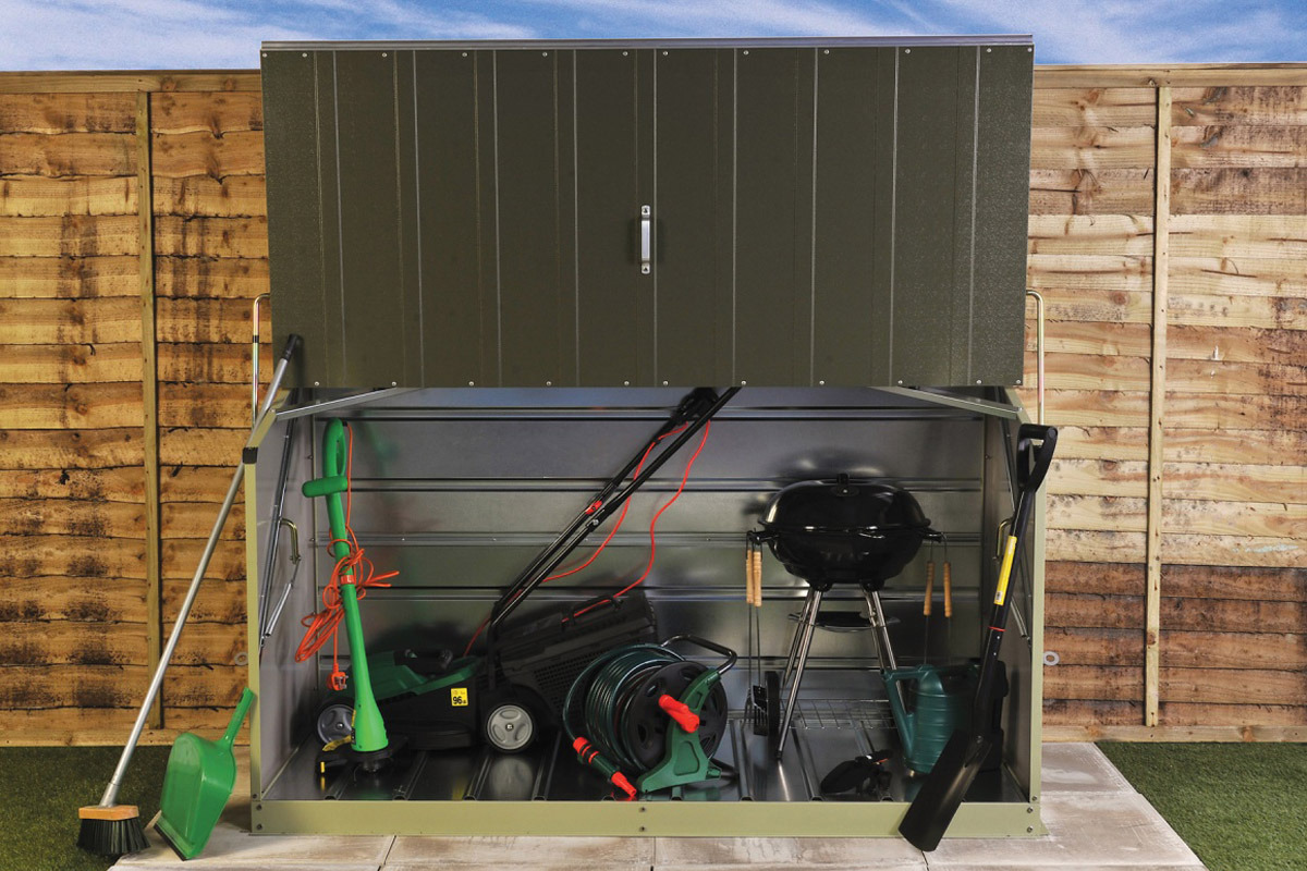Lawnmower And Barbecue Bbq Storage Trimetals