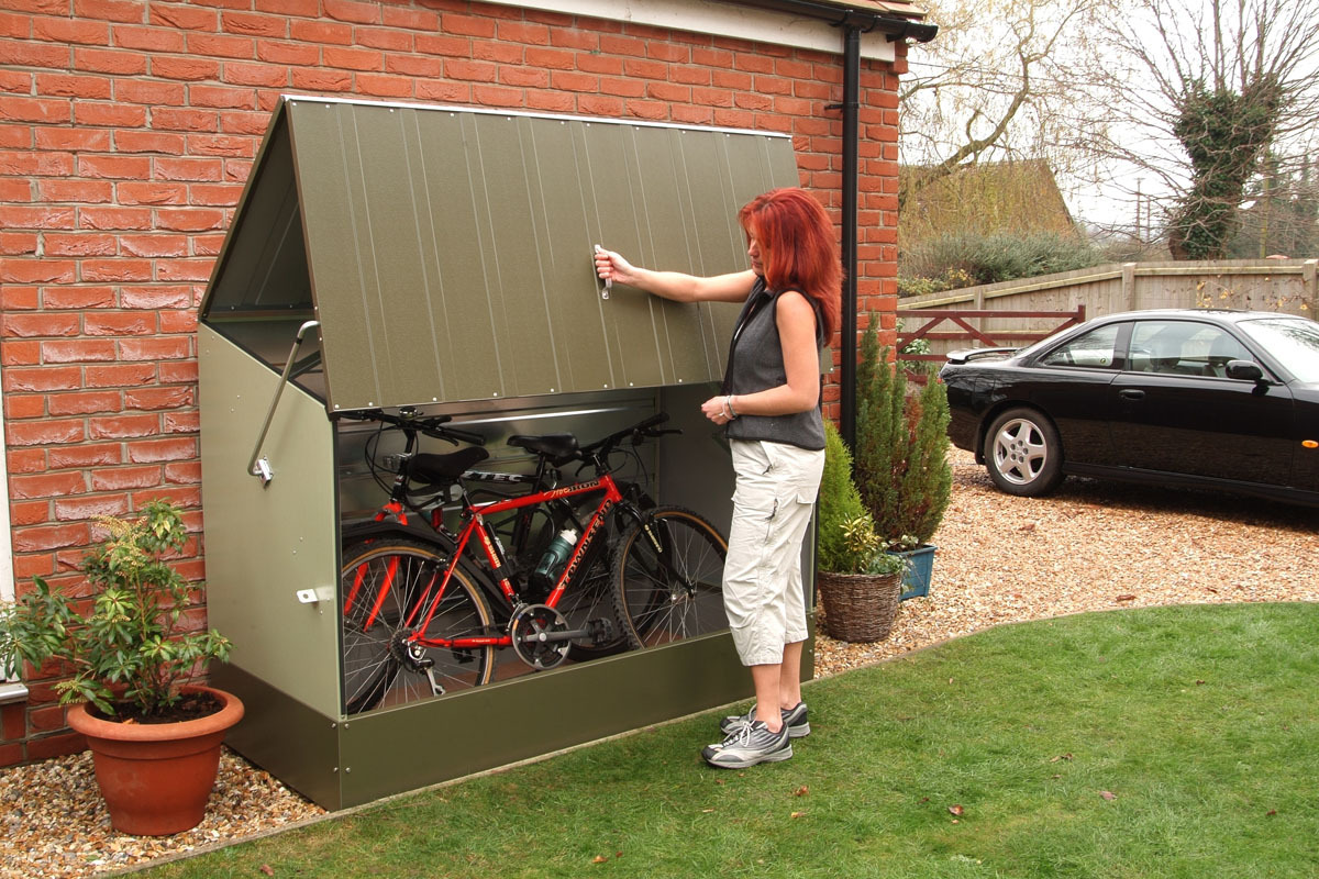 Secure bike storage sheds trimetals uk for Abris jardin tole