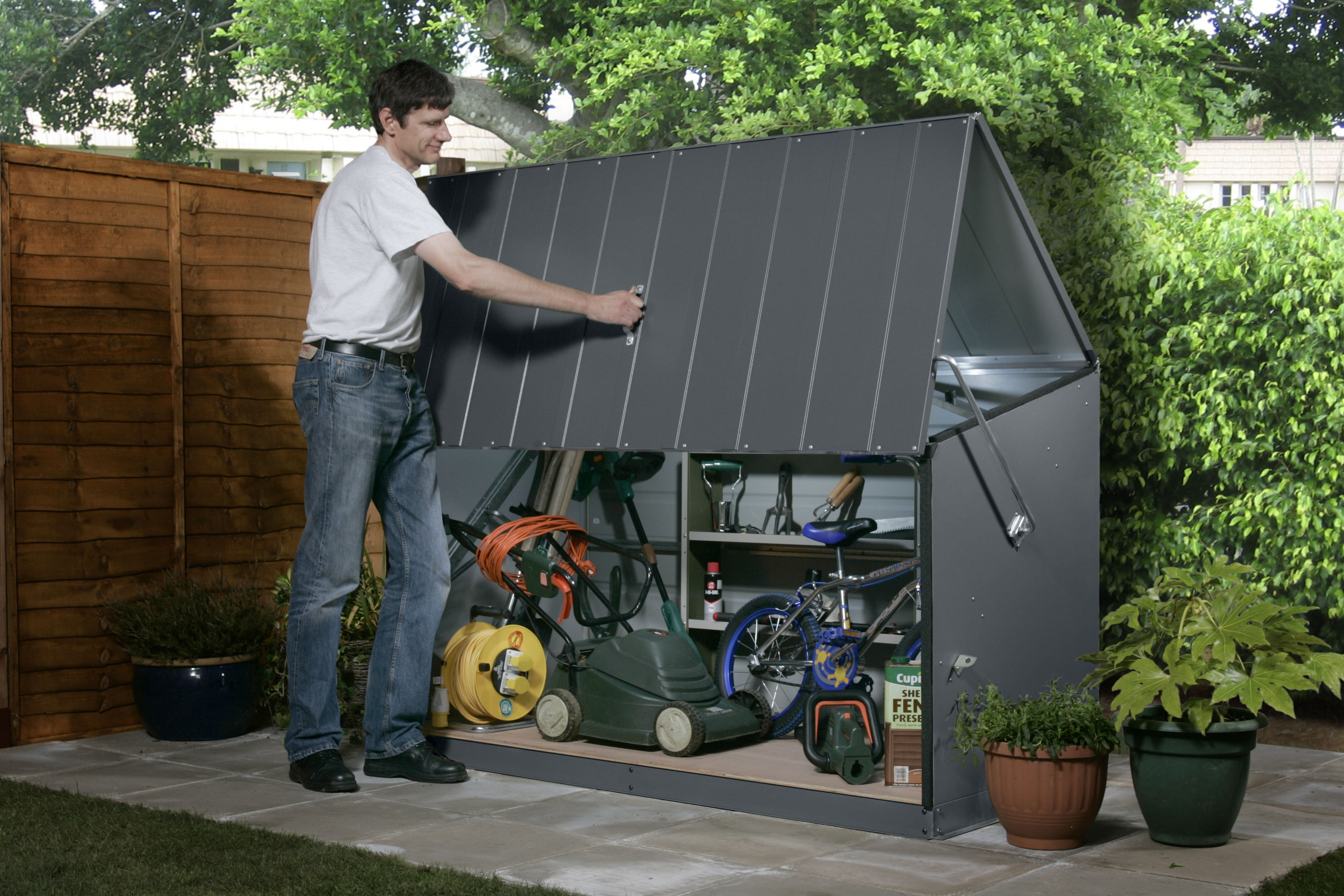 the storage hindo organized of bench ikea garden best posts and shelving shed potting home cabinet