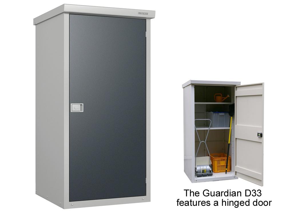 Metal Garden Storage Cabinet Multiple Shelf Options