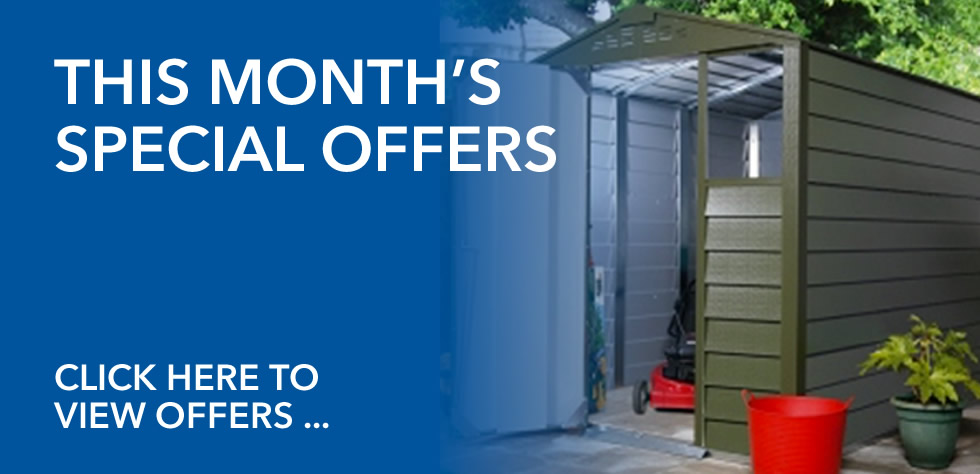 Special Offers on Metal Garden Sheds