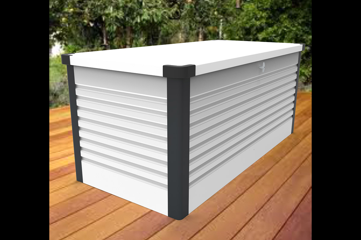 White patio box