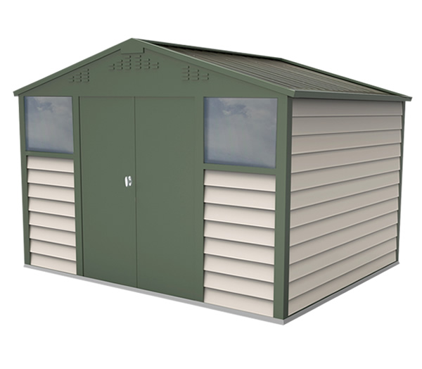 Bike sheds and metal garden storage units from trimetals uk for Aluminum sheds for sale