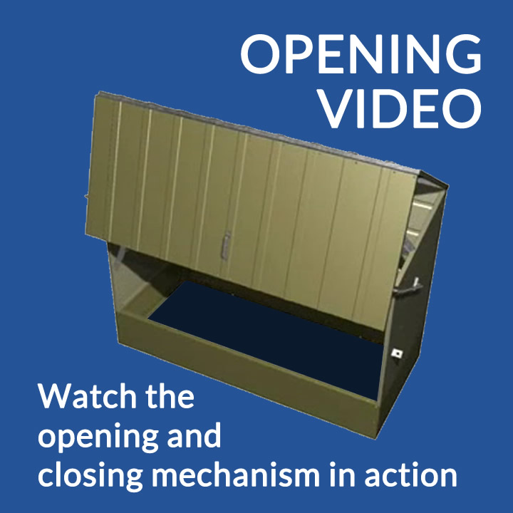 Metal storage shed 3D opening video