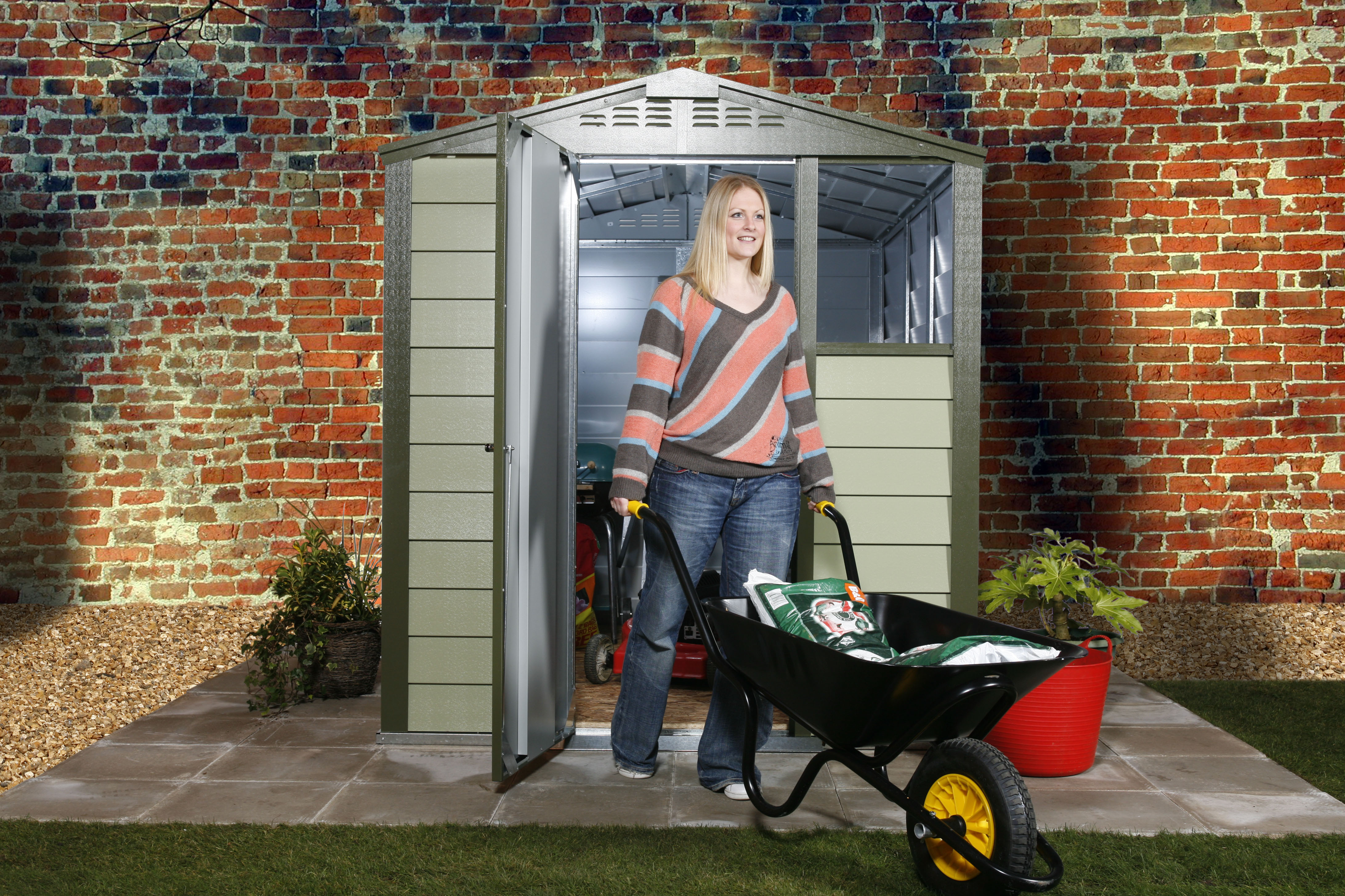 Shed for storing garden furniture during winter