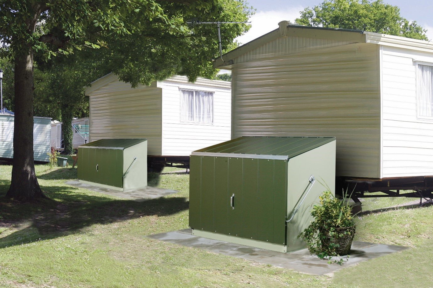 Onsite storage restrictions for mobile and static homes & Mobile and Static Caravan Storage - Storage Units Sheds or Undervan ...