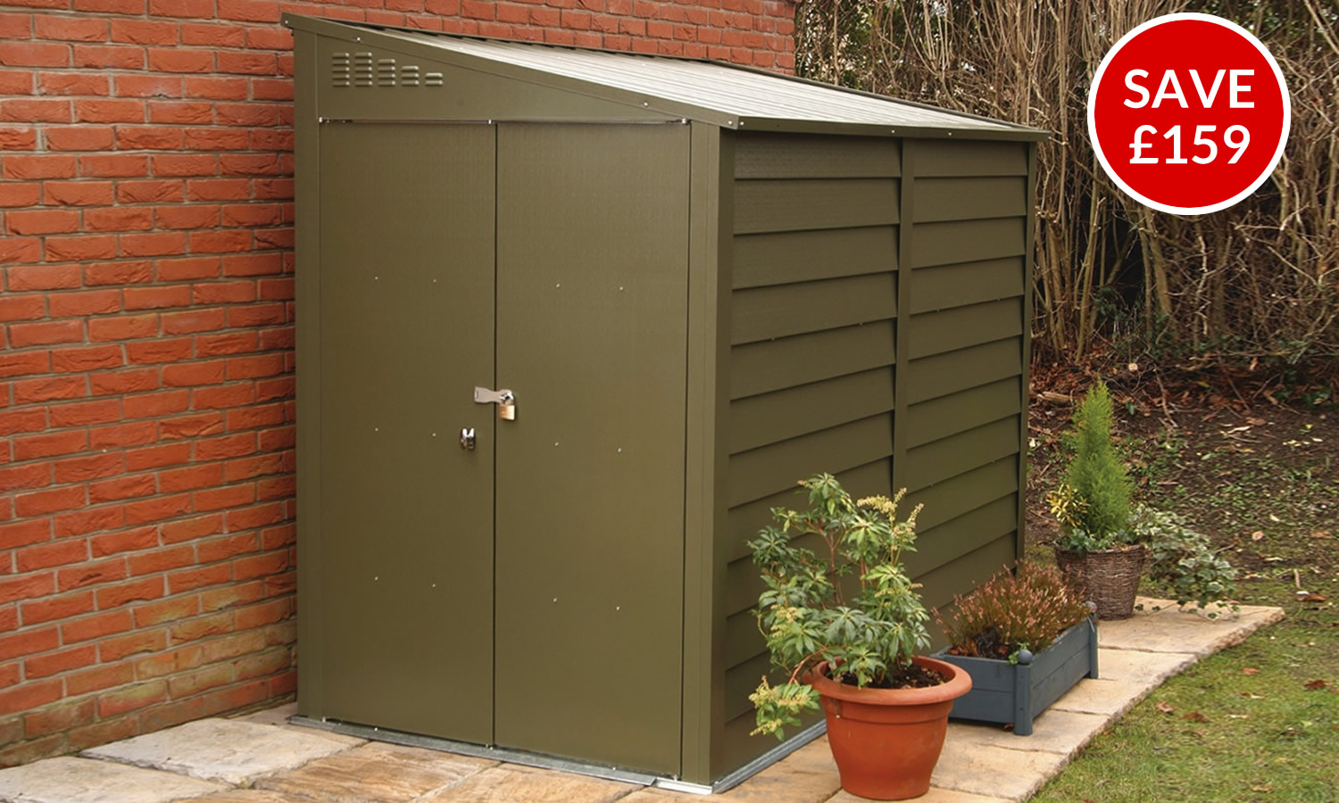 Titan 940 green shed special offer from Trimetals