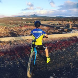 Tony Revell Elite mountain biker looking into distance
